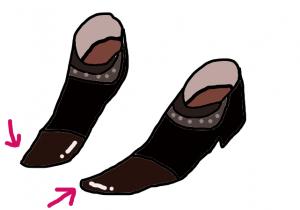 非モテファッション(とんがった靴)